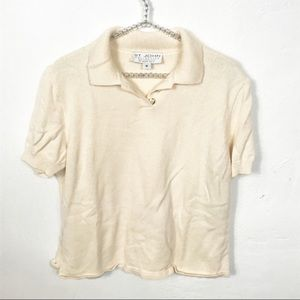 St John Collection l Cream Knit Polo
